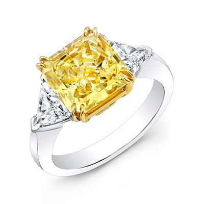 Estate Canary Diamond Ring